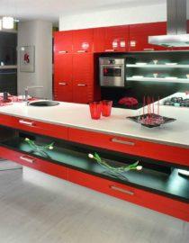 Плитка на кухне + оформление фото 1